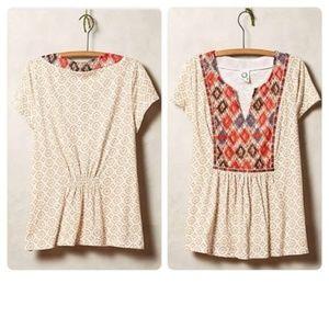 NWOT Anthropologie patterned shirt medium